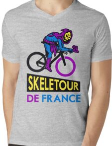 Cycling Skeletor Mens V-Neck T-Shirt