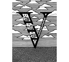 Letter V Architecture Section Alphabet Photographic Print
