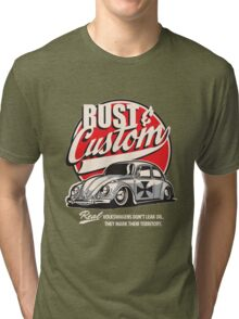 Rust & Custom Lowrider Beetle Tri-blend T-Shirt