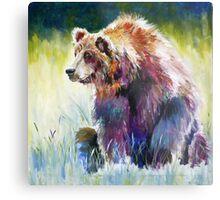 The Rainbow Bear Metal Print