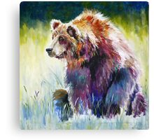 The Rainbow Bear Canvas Print