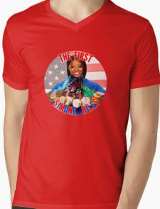 The FIRST Simone Biles Mens V-Neck T-Shirt
