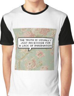 Elim Garak Floral Pixel Quote Graphic T-Shirt