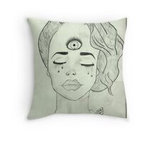 Crying Triclops Throw Pillow