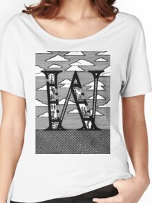 Letter W Architecture Section Alphabet Women's Relaxed Fit T-Shirt