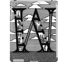 Letter W Architecture Section Alphabet iPad Case/Skin