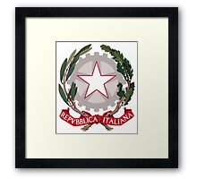 Italy Coat of Arms Framed Print