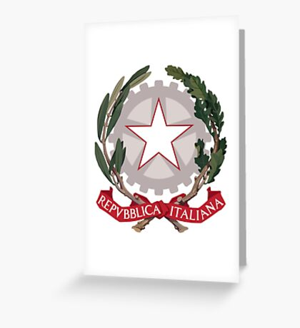 Italy Coat of Arms Greeting Card