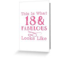 Fun Fabulous 18th Birthday Greeting Card