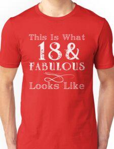 Fun Fabulous 18th Birthday Unisex T-Shirt