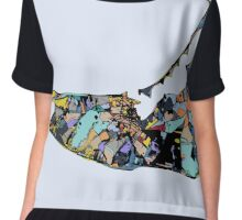 Abstract Map of Nantucket Chiffon Top