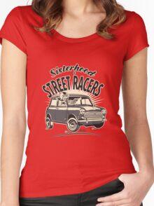 'Mini' Sisterhood Of street Racers Women's Fitted Scoop T-Shirt