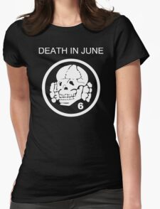 Death In June Skull Punk Rock Womens Fitted T-Shirt