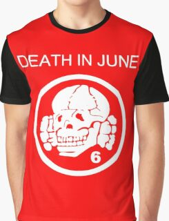 Death In June Skull Punk Rock Graphic T-Shirt