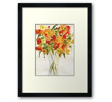 Yellow Orange Flowers Framed Print