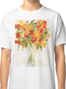 Yellow Orange Flowers Classic T-Shirt