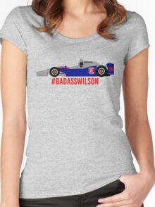 #BadAssWilson (Justin Wilson - 2015) Women's Fitted Scoop T-Shirt