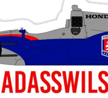 #BadAssWilson (Justin Wilson - 2015) Sticker