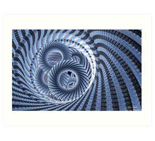 Magic Blue Whirl Art Print