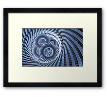 Magic Blue Whirl Framed Print