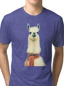 Creepy Alpaca  Tri-blend T-Shirt
