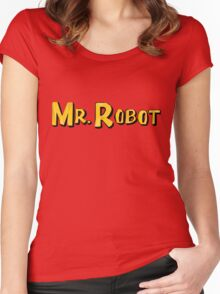Word Up Wednesdays - Mr Robot - Sitcom Women's Fitted Scoop T-Shirt
