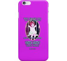 Why did Sue fall off the Swing? iPhone Case/Skin