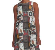 Music Squares A-Line Dress