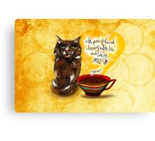 What my #Coffee says to me July 30, 2016 Canvas Print