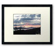 Last rays over Tingle Creek Framed Print