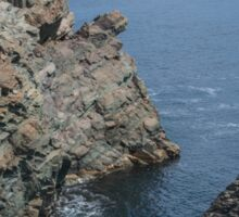 Layered Sedimentary Rock at Cape Bonavista, NL, Canada Sticker