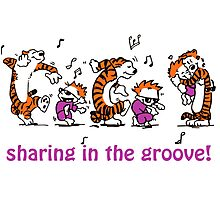 Sharing in the Groove! Photographic Print