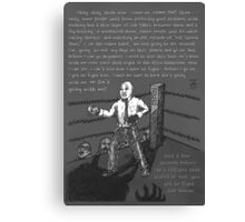 Fight the Demon (Grayscale) Canvas Print
