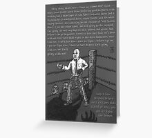Fight the Demon (Grayscale) Greeting Card