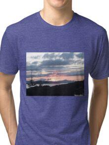 Last rays over Tingle Creek Tri-blend T-Shirt