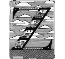 Letter Z Architecture Section Alphabet  iPad Case/Skin