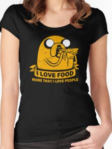 Food I love the Most Women's Fitted Scoop T-Shirt
