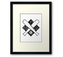 Baseball Crest Framed Print