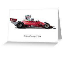 Ferrari 312 Nikki Lauda Greeting Card