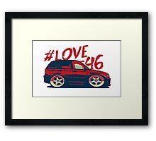 Funny -Mini e46 Framed Print