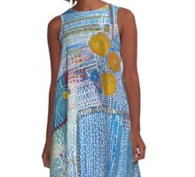 A Blue Sensation A-Line Dress