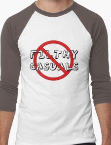 No Filthy Casuals Allowed - Gamer Geek Meme Men's Baseball ¾ T-Shirt