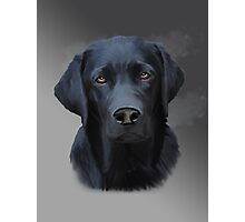 Black Labrador Dog Water Color Art Painting Photographic Print