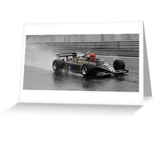 Lotus 87 in the wet Greeting Card