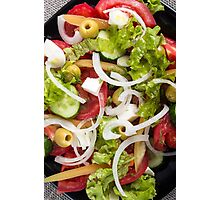 Top view of a salad made from natural raw vegetables Photographic Print