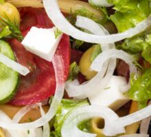 Top view of a salad made from natural raw vegetables Sticker