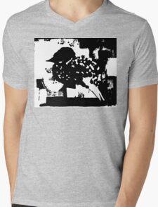Birdy Graphic Doodle Mens V-Neck T-Shirt