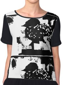 Birdy Graphic Doodle Chiffon Top
