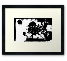 Birdy Graphic Doodle Framed Print