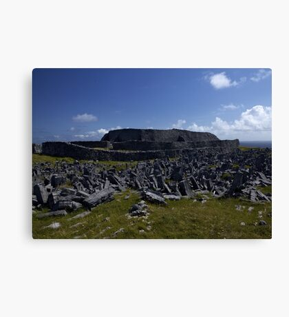 Dun  Aengus Fort, Inishmore, Aran Islands   Canvas Print
